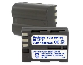 Fujifilm NP-150 7.4V 1500mAh replacement batteries