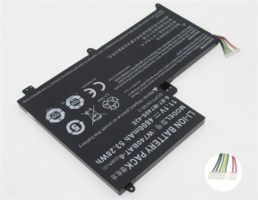 Clevo W740BAT-6, 3ICP7/34/95-2 11.1V 4800mAh replacement batteri