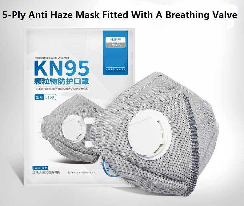 KN95 Anti dust Anti smog face mask Tail gas mask with Breathing valve in stock